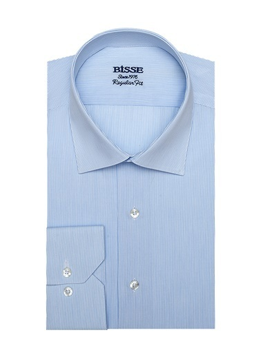 Bisse GM19K92021 Regular Fit Çizgili Klasik Gömlek Mavi